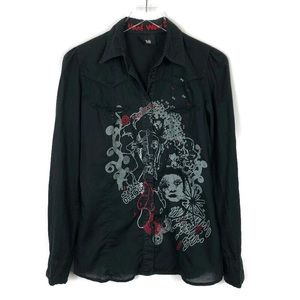 Desigual | Embroidered Button Front Shirt